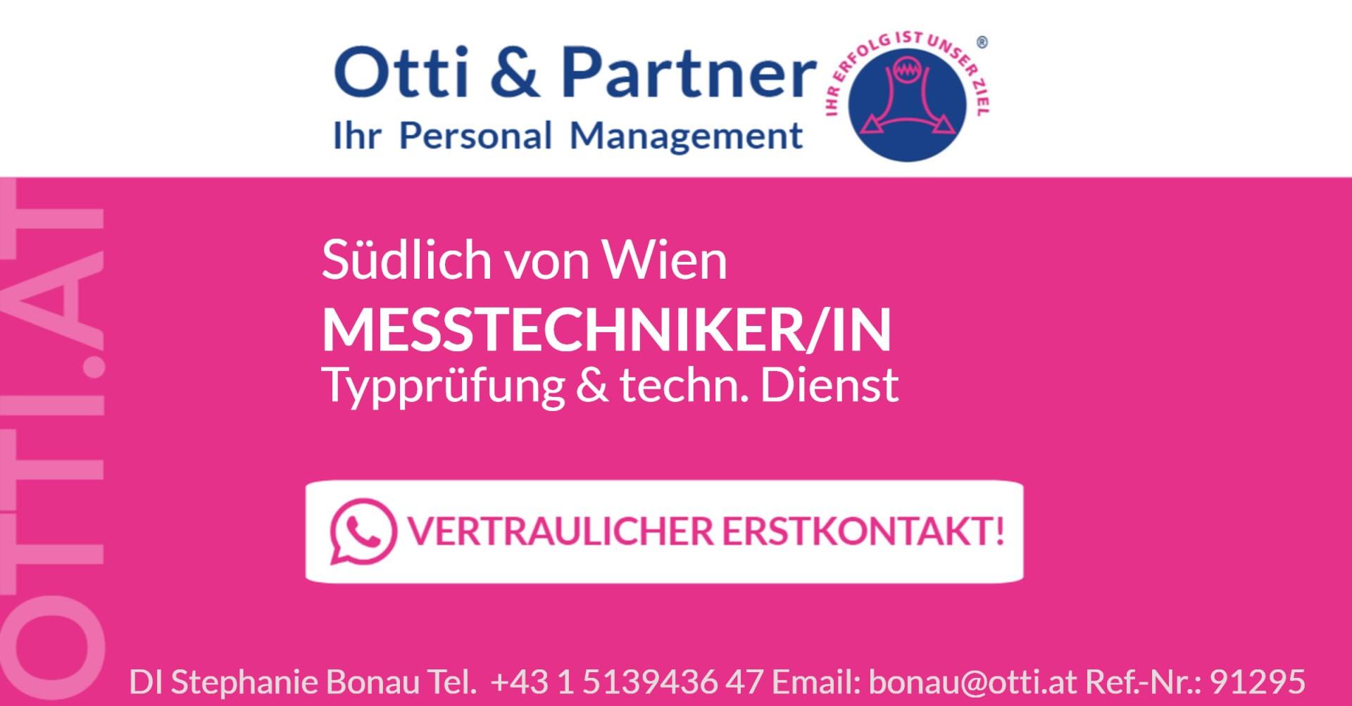 Südlich von Wien: MESSTECHNIKER (m/w/d) Typprüfung & technischer Dienst