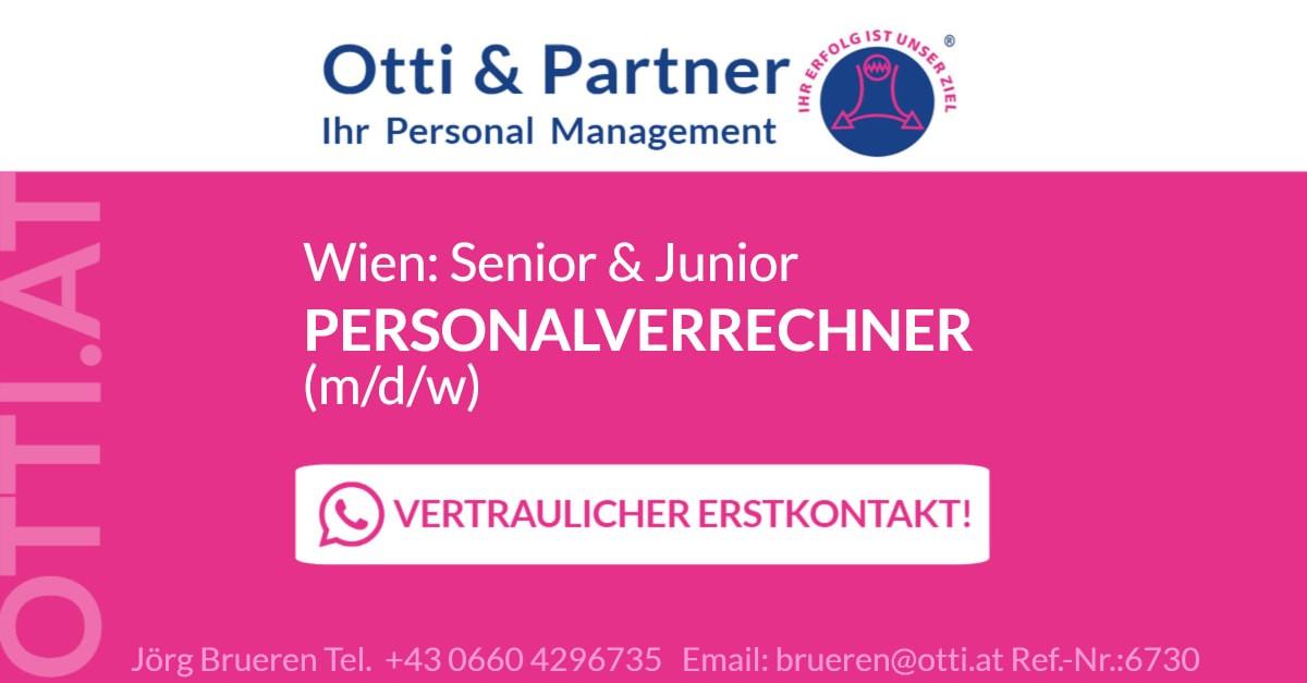 Wien: Senior & Junior PERSONALVERRECHNER (m/w/d)
