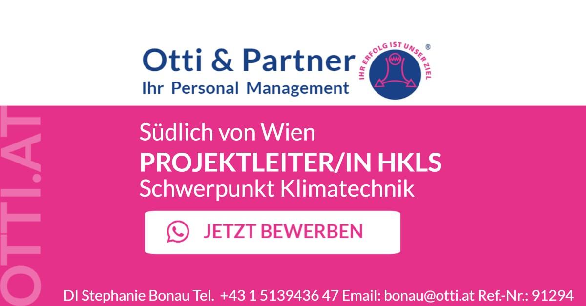 Südlich von Wien: PROJEKTLEITER/IN HKLS – Schwerpunkt Klimatechnik