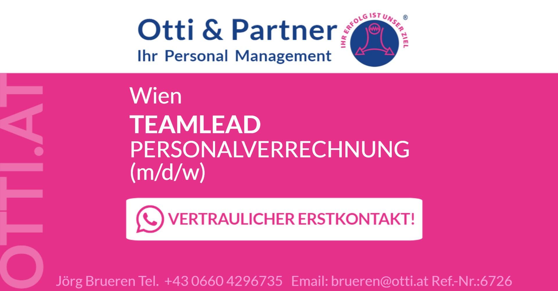 Wien: TEAMLEAD Personalverrechnung (m/w/d) für Zentrale