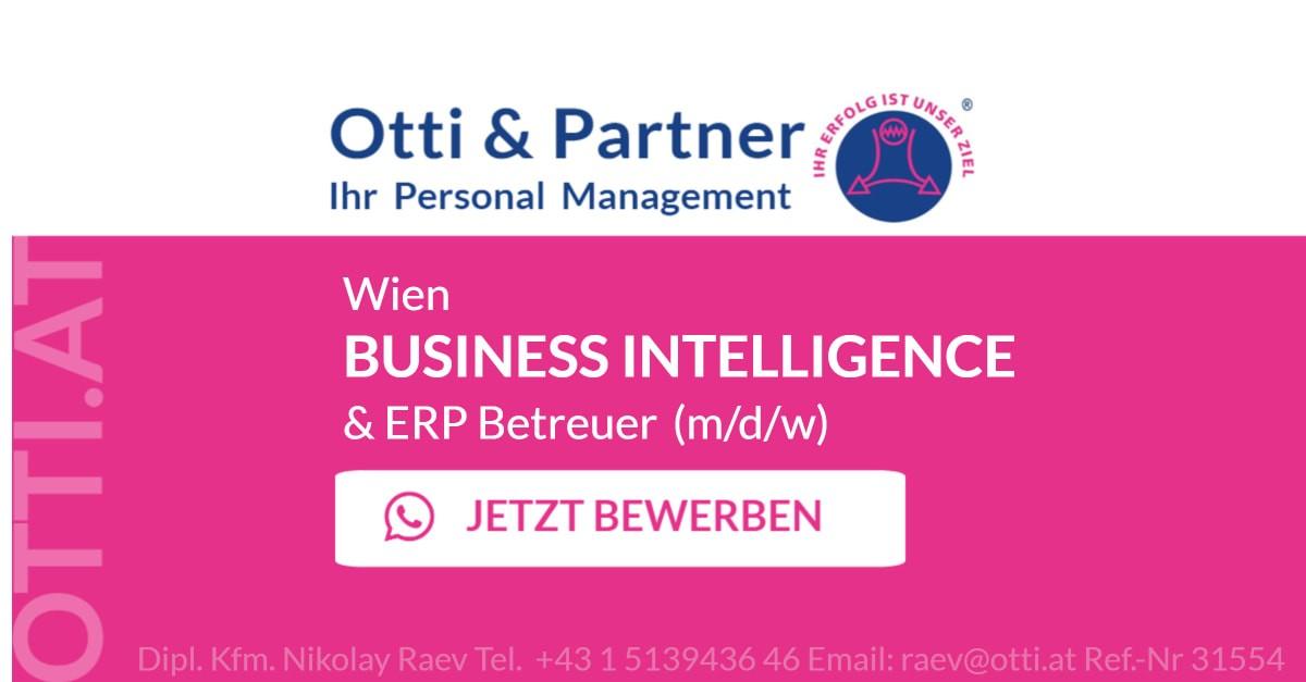 Wien: ERP & BUSINESS INTELLIGENCE Betreuer (m/d/w)