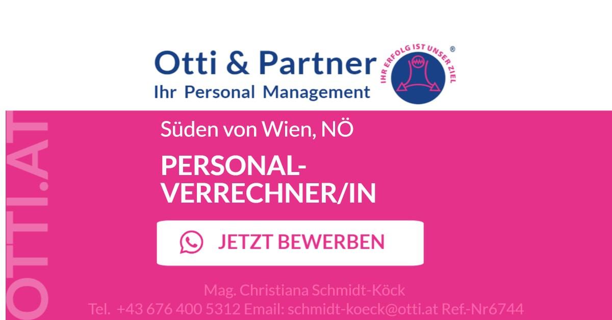 Süden von Wien, Niederösterreich: PERSONALVERRECHNER/IN für erfolgreiches, international tätiges Konzernunternehmen