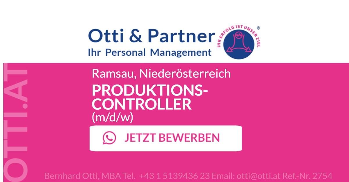 Ramsau, Niederösterreich: PRODUKTIONSCONTROLLER (m/d/w) für global agierenden Premiumdienstleister für Verpackungen