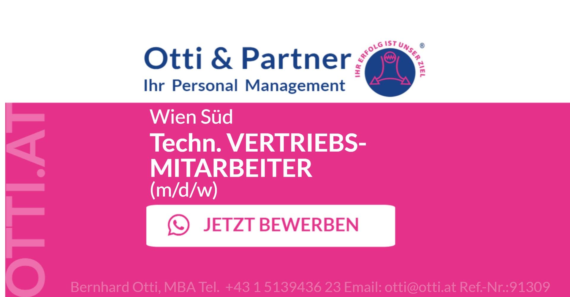 Wien Süd: Technischer VERTRIEBSMITARBEITER (m/d/w) zur Betreuung zahlreicher Kunden der Schienenfahrzeug-, Pharma-, Chemie- und Lebensmittelindustrie