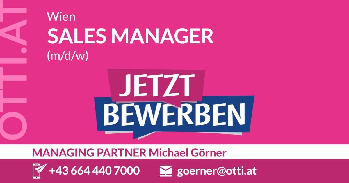 Wien: Sales Manager (m/w/d)